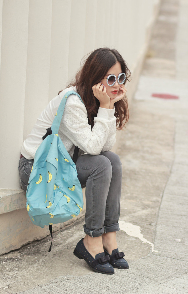 mellow mayo sunglasses sweater shoes