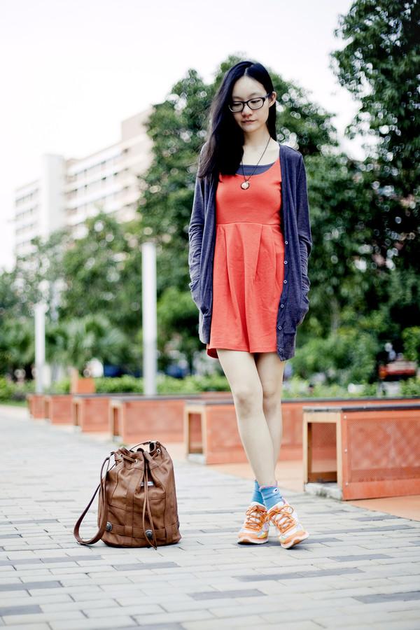 pupuren dress cardigan socks shoes bag jewels