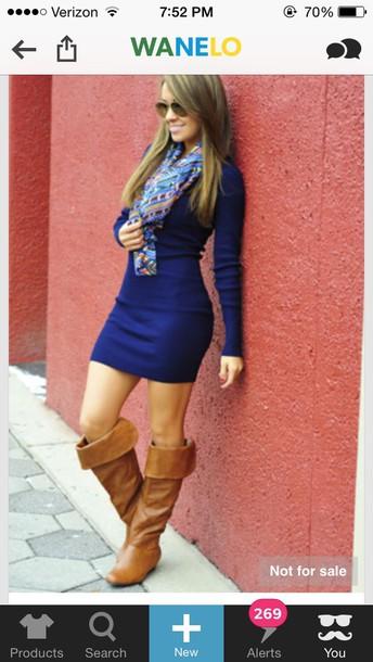 dress boots blue dress