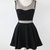 Charming Short Little Black Dress With Mesh Insert 1318441 on Luulla