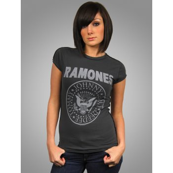 Amplified Ladies Vintage Ramones T-Shirt, Charcoal - Amplified from Honcho-SFX UK