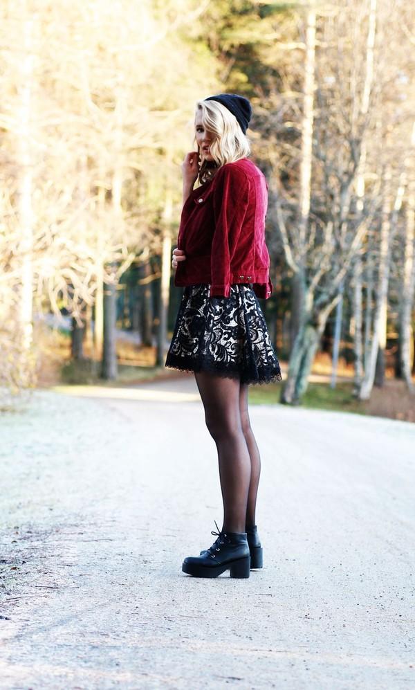 petra karlsson jacket skirt t-shirt shoes
