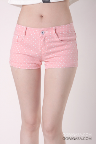 Tiny Polkadot Shorts Pink - Shop our stylish yet affordable clothing, bags and more! - GOWIGASA