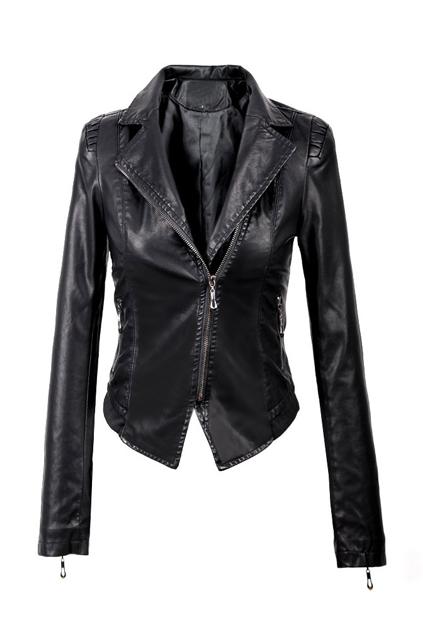 ROMWE | Brief Slim Fit Biker Jacket, The Latest Street Fashion