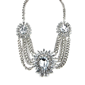 Romantic Marquise Crystal Bib