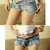 Sexy Low-Rise Studs Detail Denim Shorts For Women, Shop online for $14.00 Cheap Denim Shorts code 720441 - Eastclothes.com