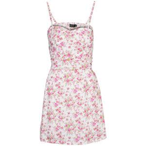 Club L Women's Strappy Floral Skater Dress - White Womens Clothing | TheHut.com