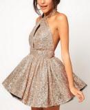 Sexy Halter-neck Puff Skirt - Juicy Wardrobe
