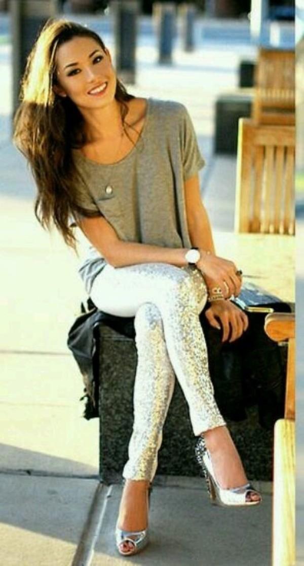 pants blouse watch necklace