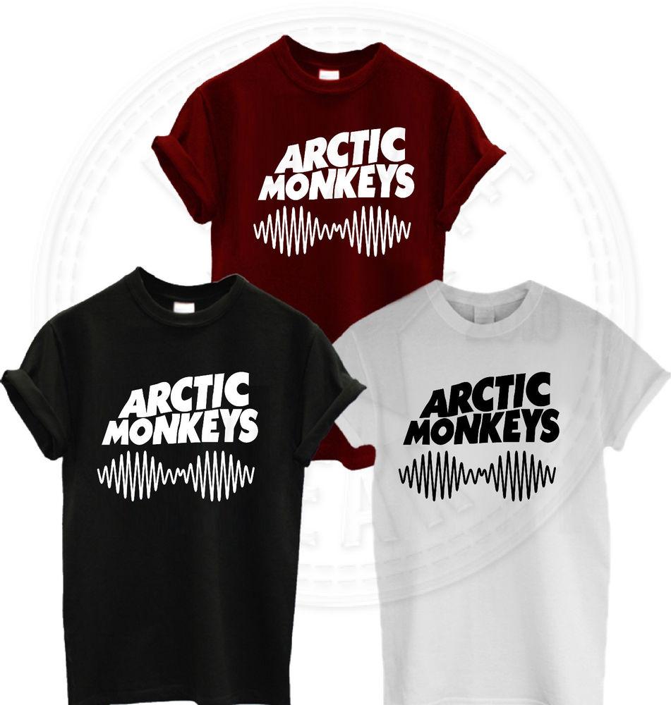 ARCTIC MONKEYS TSHIRT AM SOUNDWAVE T SHIRT TOP NEW ALBUM MUSIC CONCERT TOUR 2014 | eBay