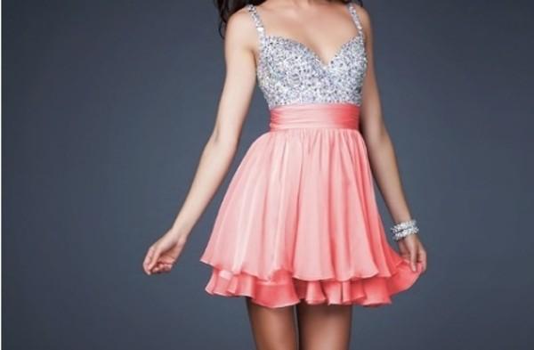 dress pref drees sparkle sparkly dress prom dress pink silver dress