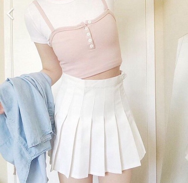 Shirt: light pink, tumblr, aesthetic tumblr, aesthetic grunge, summer outfits - Wheretoget