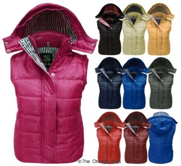 jacket sleeveless bodywarmer chaleco colorful pink mint yellow black khaky blue red wine gilet
