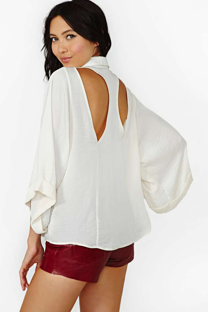 Nasty Gal Sleepless Nights Blouse in  Clothes Tops at Nasty Gal