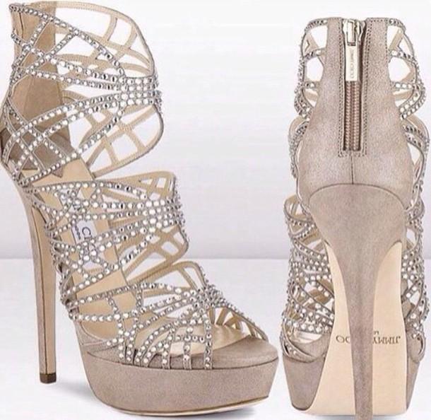 shoes jewels high heels