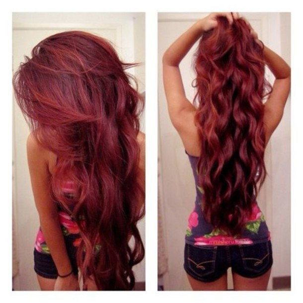 hair accessory redhead red hat weave extensions