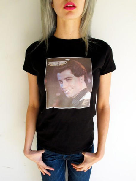 t-shirt Grease john travolta pulp fiction movies