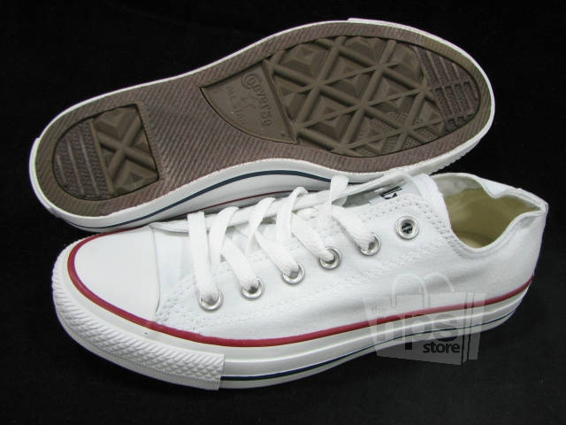 Converse All Star Ox Women's Size 7 White Lace Up Casual Shoes   eBay