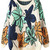 ROMWE | Colorful Leaves Print Kinted Orange Jumper, The Latest Street Fashion