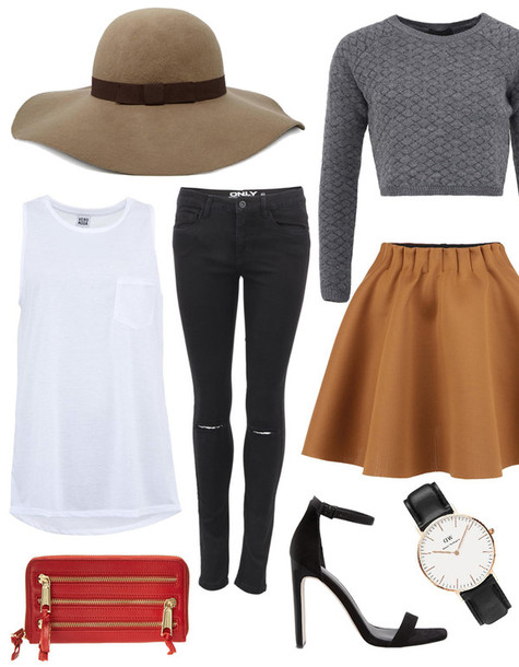 a cup of style blogger hat shoes sweater skirt jeans top