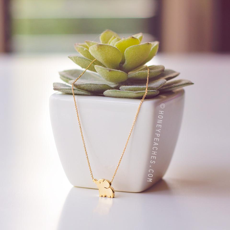 Ellie The Elephant Necklace – Honey Peaches