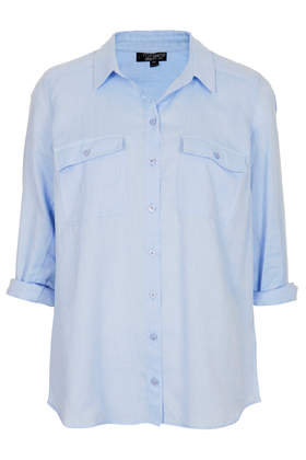Casual Chambray Shirt - Tops - Clothing - Topshop USA