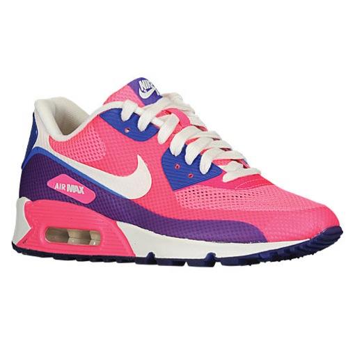 Nike Air Max 90 - Women's - Running - Shoes - Pink Flash/Pink Flash/Hyper Blue/Sail