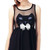 Black Mini Dress - Cat Face Bowknot Sheer Black – Club Honorée