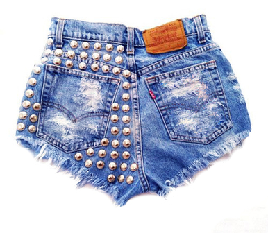 Wanderlust 420 Studded Shorts - Arad Denim