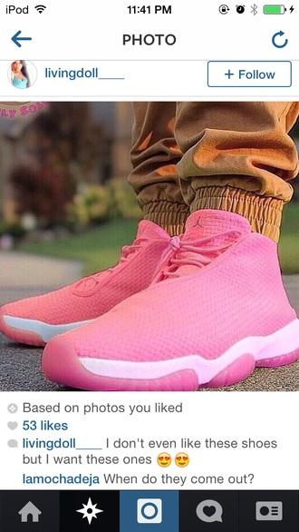jordan future pink laced jordans shoes