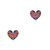 British Flag Heart Stud Earrings