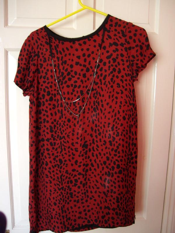 mini print red dress dress