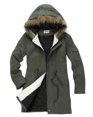 New Men Women Military Long Winter Trench Coat Jacket Hooded Parka Overcoat on Wanelo