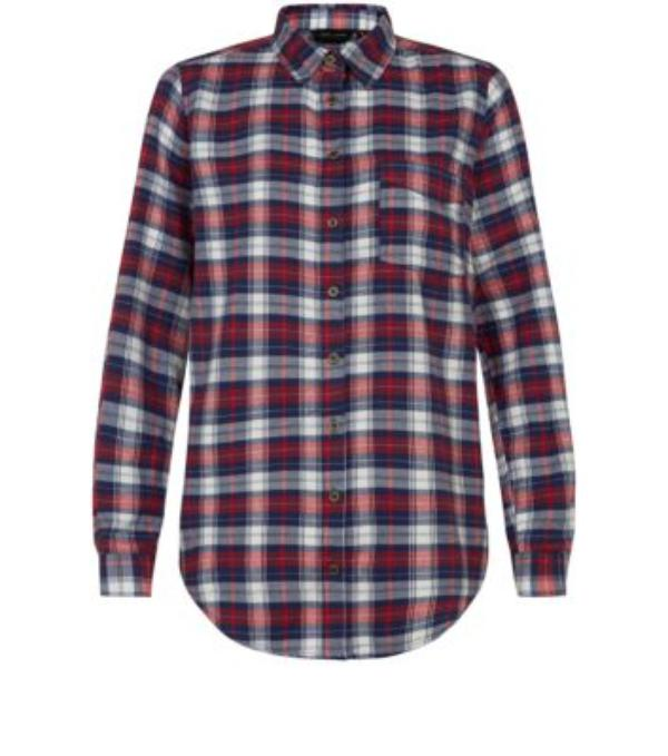 Red and Blue Long Sleeve Check Shirt - Woman - Clothing - Habbage