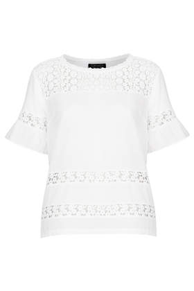 Pretty Hybrid Panel Top - Tops - Clothing - Topshop USA