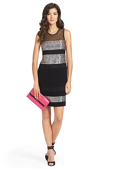 Wally Square Crystal Embellished Dress | Dresses by DVF