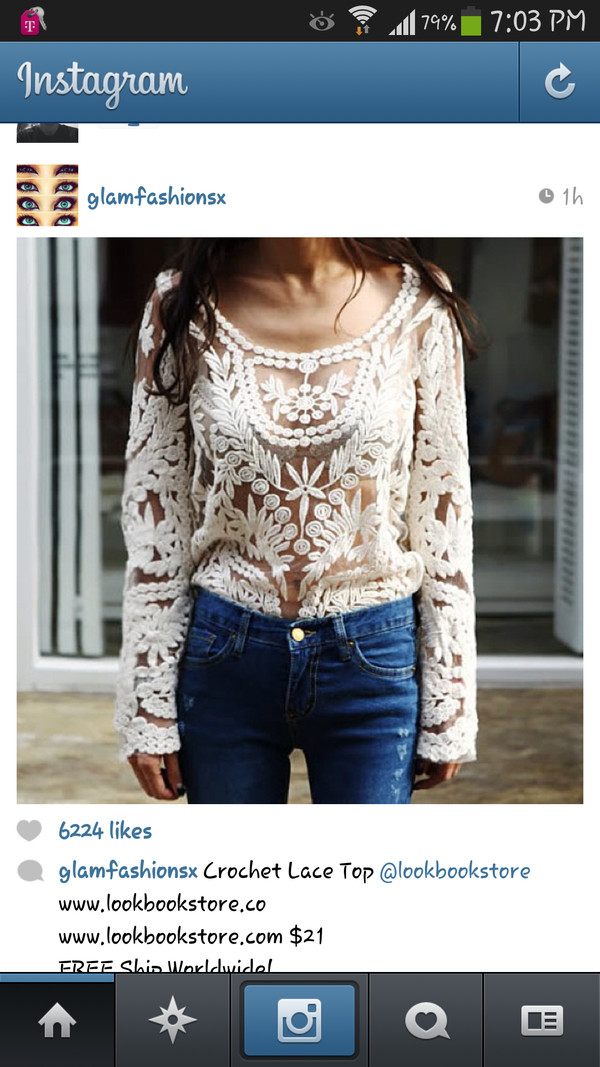 shirt lace cute wanted