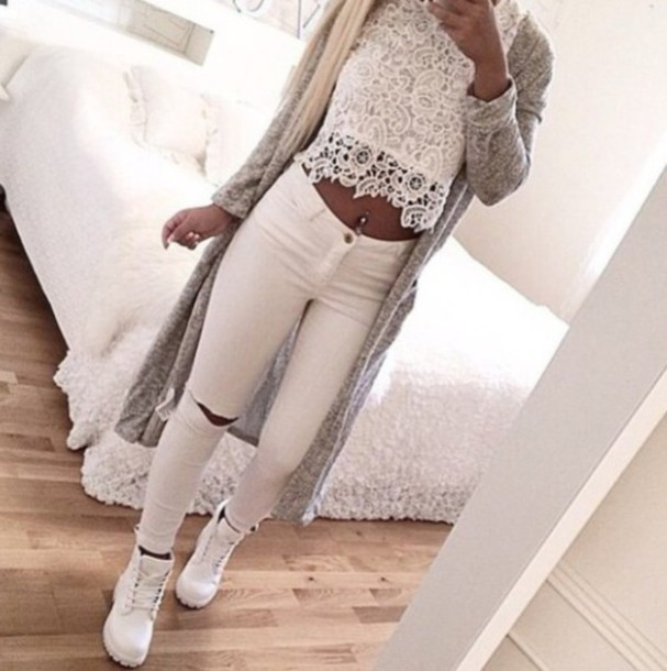 blouse pants cardigan style
