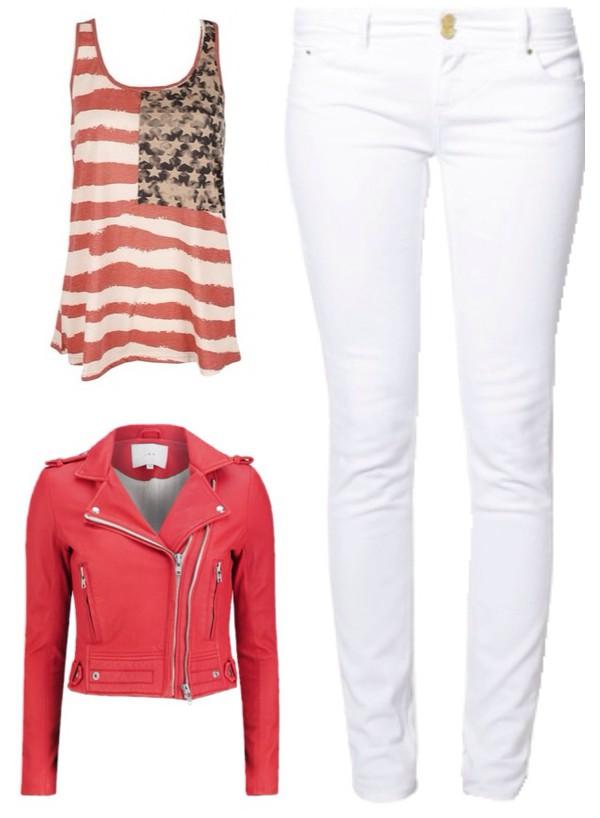 jacket blouse jeans