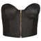 Pu zip up bralet - lingerie   - clothing  - topshop