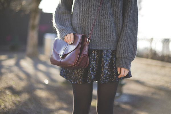 tiphaine's diary sweater dress skirt bag shoes