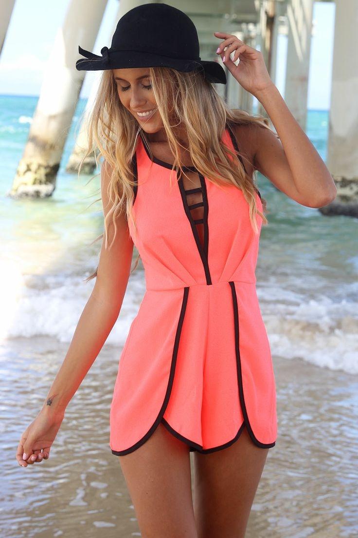 Neon Pink Playsuit – Fashion Sanity
