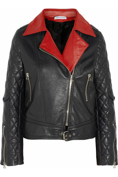 J.W.Anderson | Quilted leather biker jacket | NET-A-PORTER.COM
