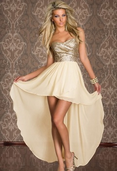 New Arrival 2014 Women Fashion Sexy Strapless Long Trailing Sequin Chiffon Prom Dress One piece Evening Gown Prom Dresses-in Prom Dresses from Apparel & Accessories on Aliexpress.com
