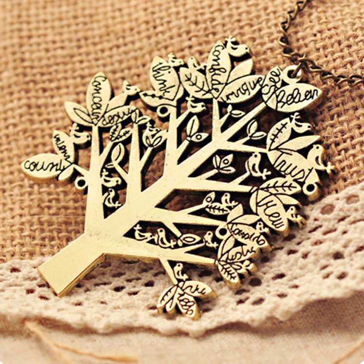 Christmas Life TreeWith Bird Sweater Necklace on Luulla