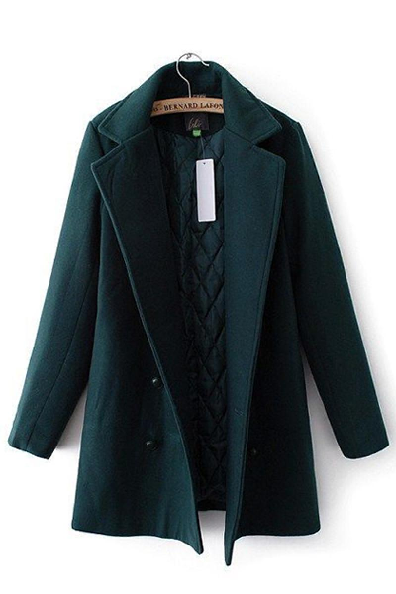 2013 Autumn & Winter New Thickened Pure Color Slim Woolen Overcoat,Cheap in Wendybox.com