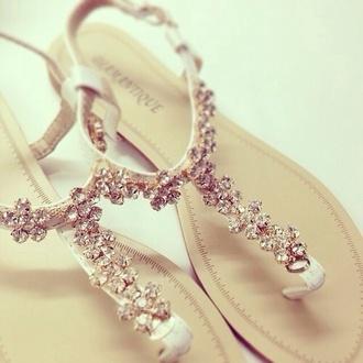 wedding shoes wedding accessories diamonds flat sandals elegant beach wedding flats