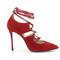 4 inch heels - classic red suede high heel pumps