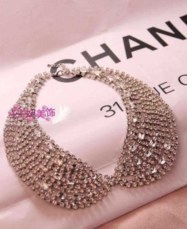 Min. order is $15 (mix order) Rhinestone false collar necklace nbsp . bling collar female accessories asuka n060-inChoker Necklaces from Jewelry on Aliexpress.com