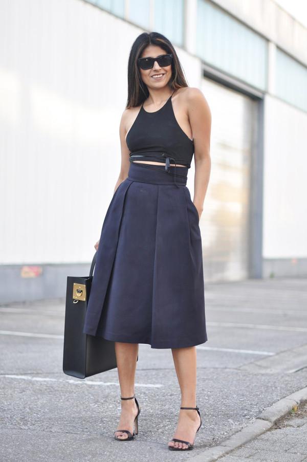 fashion landscape sunglasses skirt top shoes bag